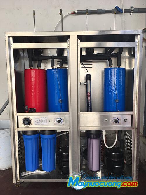 Bộ lọc máy lọc nước nóng lạnh 4 vòi cong
