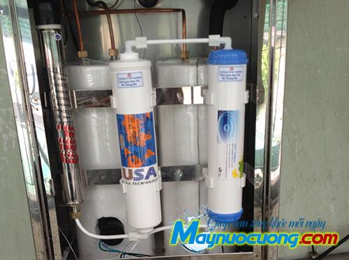 Hệ thống lọc máy nước uống nóng lạnh 2 vòi lạnh