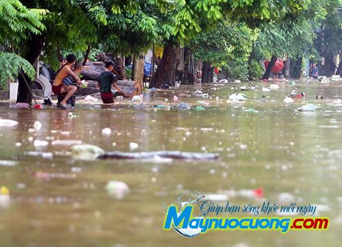 Ô nhiễm môi trường nước do lũ lụt