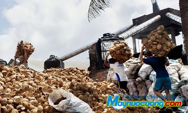Nguyên liệu than hoạt tính là gáo dừa