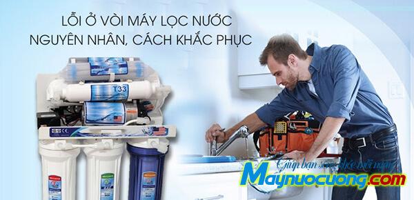Vòi máy lọc nước bị rỉ nước